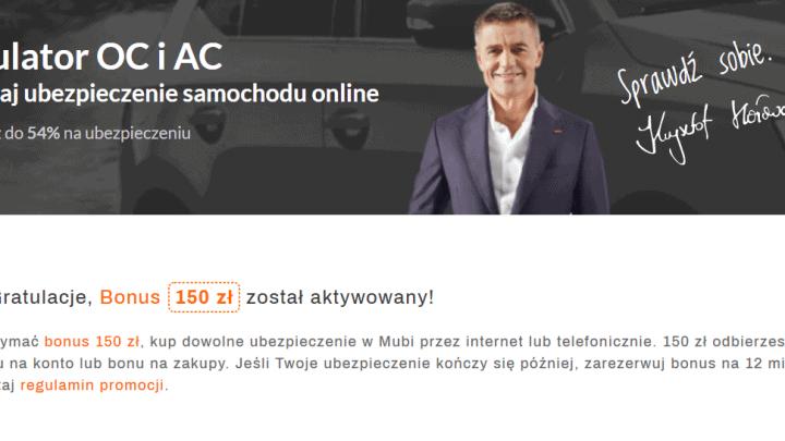 Mubi jak odebrać bonus 150 zł