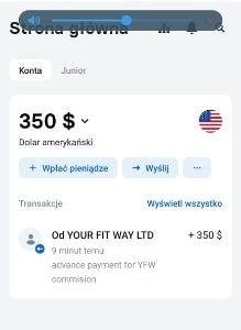 YourFitWay wypłata