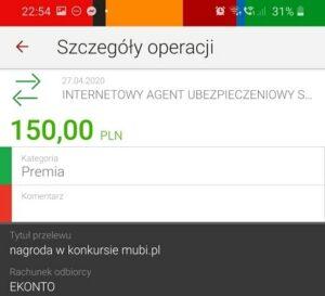 Mubi bonus 150 zł